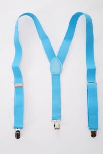 DRESS ME UP Halloween Karneval Hosenträger Suspenders Hellblau Blau W-068B-Blue - Vorschau 3