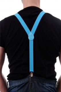 DRESS ME UP Halloween Karneval Hosenträger Suspenders Hellblau Blau W-068B-Blue - Vorschau 2