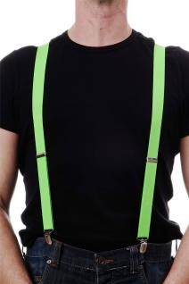 DRESS ME UP - Halloween Karneval Hosenträger Suspenders Grün W-068G-Green