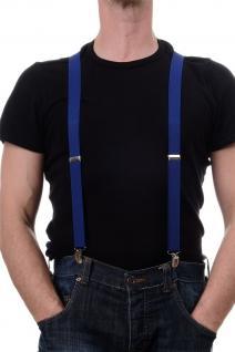 DRESS ME UP - Halloween Karneval Hosenträger Suspenders Dunkelblau W-068N-Navy