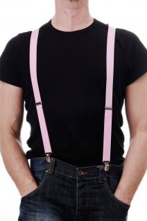 DRESS ME UP - Halloween Karneval Hosenträger Suspenders Pink W-068P-pink - Vorschau 1