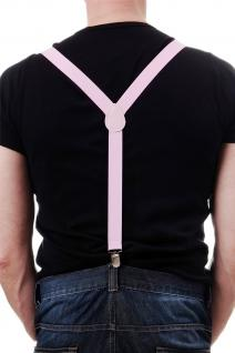 DRESS ME UP - Halloween Karneval Hosenträger Suspenders Pink W-068P-pink - Vorschau 2