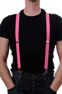 DRESS ME UP - Halloween Karneval Hosenträger Suspenders Rosa W-068R-Rosy