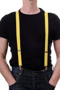 DRESS ME UP - Halloween Karneval Hosenträger Suspenders Gelb W-068Y-yellow