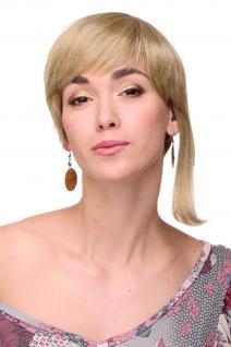 Kesse Sexy Kurzhaarperücke Damenperücke Perücke kurz blond lange Strähne links