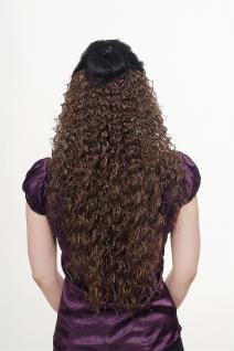 Haarteil, Halbperücke, Clip, Extension, lockig, braun, Länge: ca. 70cm, H9311-10