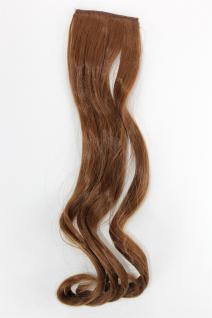 2 Clips Strähne wellig Dunkel-Asch-Blond YZF-P2C18-12 45cm Haarverlängerung
