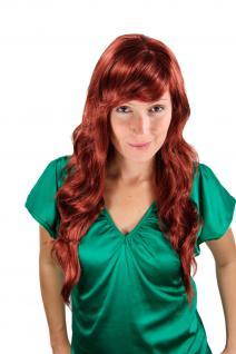 Damen Perücke Wig kupfer-rot Locken gestuft wellig Haarersatz lang 60cm 6313-350