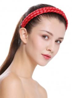 Haarband Haarreif geflochten Tracht traditionell Knallrot braid CXT-002-617