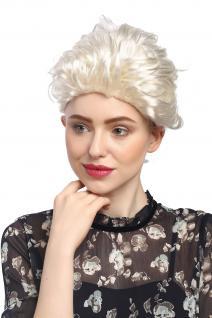 Perücke Damen Karneval Barock Platin-Blond langer Zopf geflochten Prinzessin 051 - Vorschau 2