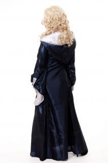 Kostüm Damenkostüm Blaues Kleid Haube Mittelalter Elfe Fee Magierin Cosplay L080 - Vorschau 4