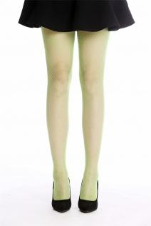 Netz-Strumpfhose Pantyhose Damenkostüm Karneval Halloween grün S/M W-020B-green - Vorschau 2