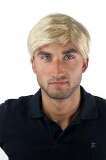 Herrenperücke Wig Men Toupet Kurz Jugendlich Modisch Blond-Mix GFW-994-24BT613