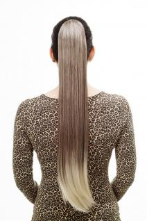 Haarteil/Zopf, sehr lang, glatt, Butterfly-Klammer, 70 cm, Braun-Blond-Mix, T113-6T613