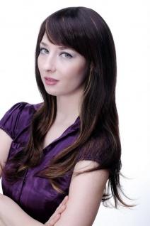 Damen Perücke braun leichte helle Strähnen glatt langes Haar 9213-2T33-27 NEU - Vorschau 3
