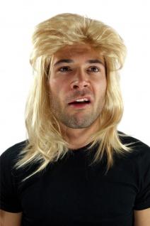 Perücke Fasching Proll Assi Blond Vokuhila Frisur 80er Jahre Fußballer NEU Wig