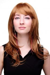 Damenperücke lang Perücke rotblond blond Pony Scheitel frisierbar gestuft 4038 - Vorschau 2