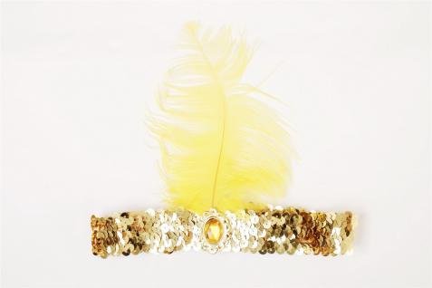 Haarband Haarreif Stirnreif Pailletten gold Charleston 20er Cabaret VQ-006-Gold - Vorschau 2