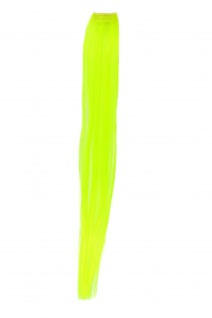 1 Clip Extension Strähne Haarverlängerung glatt Neongelb 45cm YZF-P1S18-TF2106