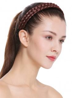 Haarband Haarreif geflochten Tracht traditionell rotbraun braid CXT-002-130