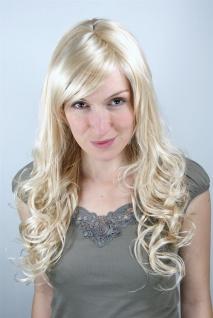 Perücke Damen Frauen lang blond hellblond Scheitel lockig 9319-611 60cm Perrücke