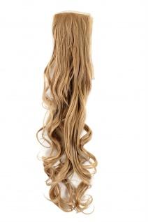 Haarteil Zopf Blond wellig 63 cm mit Band und Klammer befestigt YZF-1094HT-18