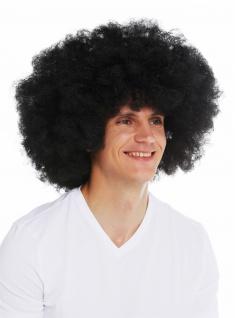 XXL riesige Afro-Perücke Damen Herren Karneval voluminös schwarz 70s 3256-P103