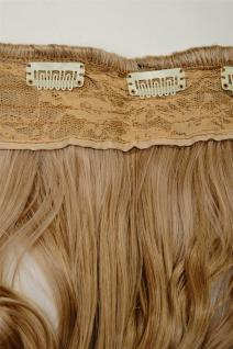 Clip-In Extension Haarverlängerung breit hitzefest 5 Clip lockig Blond Mischung - Vorschau 3