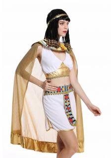 Kostüm Damen Frauen Karneval Ägypterin Kleopatra Cleopatra Pharaonin weiß M - Vorschau 4
