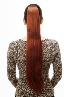 Haarteil/Zopf, sehr lang, glatt, Butterfly-Klammer, ca 70cm, Rot, Haar, T113-130