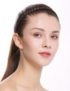 Haarband Haarreif geflochten Tracht traditionell braun braid CXT-009-006