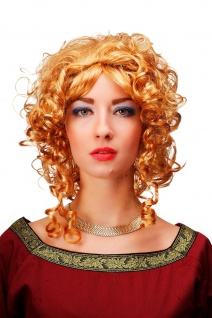 Karneval Perücke Blond Prinzessin Königin Mittelalter Barock 66102-P27