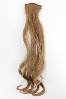 2 Clips Extension Strähne wellig Blond YZF-P2C18-22 45cm Haarverlängerung