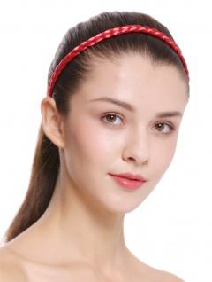 Haarband Haarreif geflochten Tracht traditionell Knallrot braid CXT-009-617