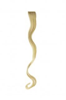 1 Clip-In Extension Strähne wellig Lichtblond P1C18-613 Haarverlängerung 45 cm