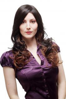 Sexy Perücke Damenperücke Ombre Hair Braun Rotbraun Mischung lang gewellt SA070