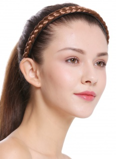Haarband Haarreif geflochten Tracht traditionell goldbraun braid CXT-003-230