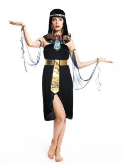 Kostüm Damen Frauen Karneval Ägypterin Kleopatra Cleopatra Pharaonin S/M W-0264 - Vorschau 2