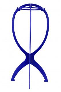 Plastik Perückenständer blau Ständer Perücken Aufbewahrung Lagerung Präsentation