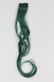 1 Clip Extension Strähne Haarverlängerung wellig Jägergrün 45cm YZF-P1C18-T2610