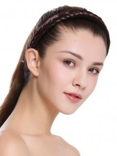 Haarband Haarreif geflochten Tracht traditionell braun braid CXT-001-006