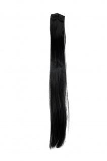 2 Clips Extension Strähne glatt Schwarz YZF-P2S25-1 65cm Haarverlängerung