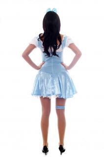 Damenkostüm: Hellblaues Dirndl Zofe Maid Zimmermädchen Dienstmagd Haarreif L009 - Vorschau 4