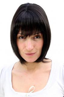 Damen, Perücke, Wig, schwarz, SEXY, PONY, halblang, glatt, Haarersatz, 35 cm, MA-255-2