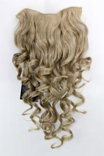 Clip-in Haarteil mit 7 Klammern, 3/4 Perücke, blond, Länge: ca. 50 cm, H9503-24