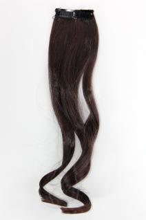 2 CLIP Strähne wellig Kastanien-Braun YZF-P2C18-2T33 45cm Haarverlängerung