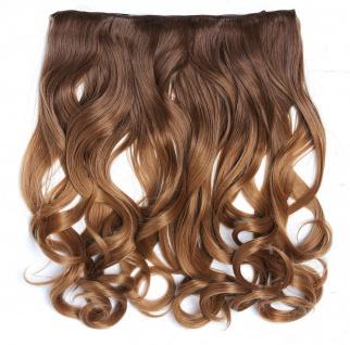 Clip-in Extension Haarverlängerung breit gelockt Locken Ombre Honigblond Blond