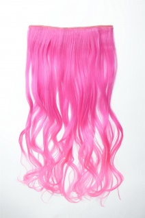 Extension Haarverlängerung Clip-In 5 Clip lockig zweifarbig Ombre Rosa 50cm lang