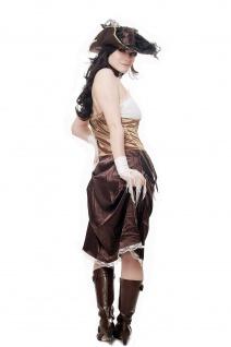 Kostüm Damen Damenkostüm Set Piratin Piratenbraut Freibeuterin L051 - Vorschau 4