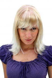 Damen Perücke natürlicher Blond-Mix gewellte Spitzen lange Haare 3017-27T613